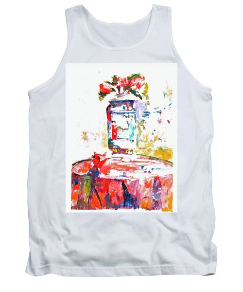 Anemones In A Chinese Vase After Edouard Vuillard Tank Top