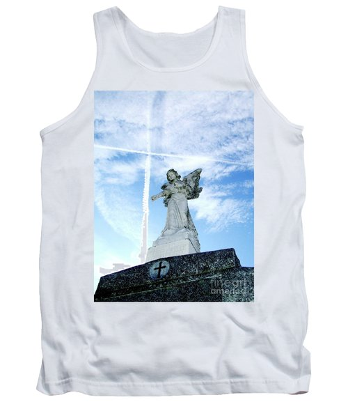 Angel And Crosses Tank Top