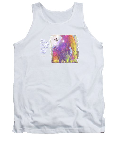 Tank Top featuring the photograph Angel Vision by Marie Hicks