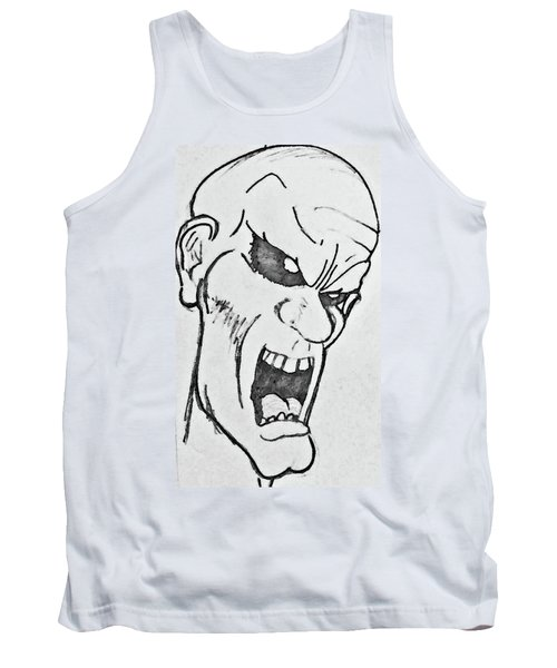 Angry Cartoon Zombie Tank Top by Yshua The Painter