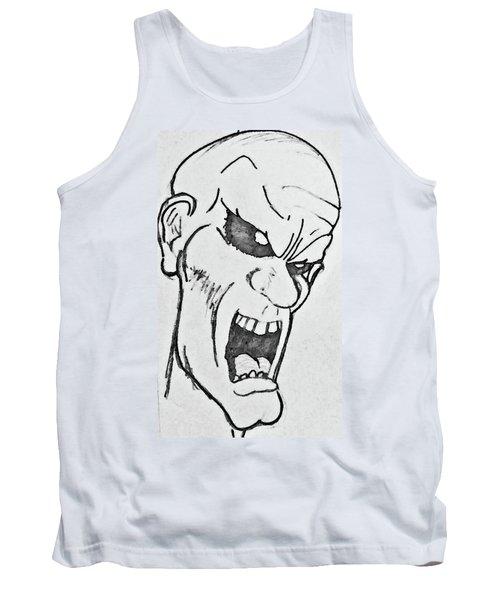 Angry Cartoon Zombie Tank Top