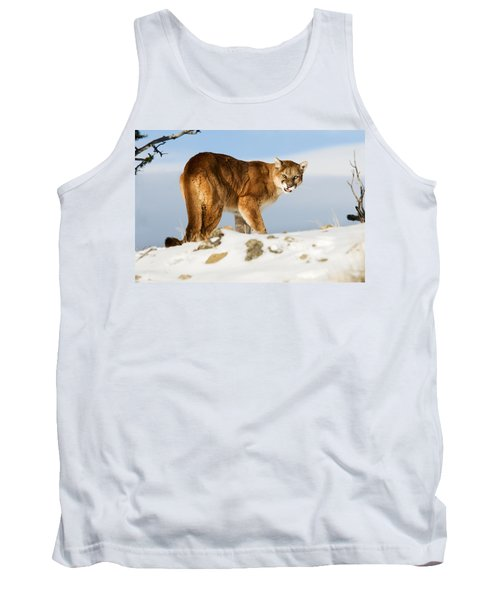 Angry Mountain Lion Tank Top