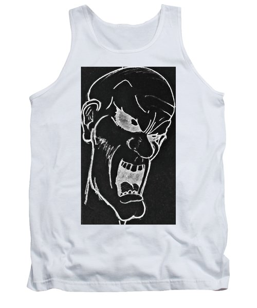 Angry Zombie In Negative Tank Top by Yshua The Painter