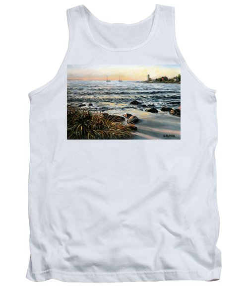 Annisquam Beach And Lighthouse Tank Top
