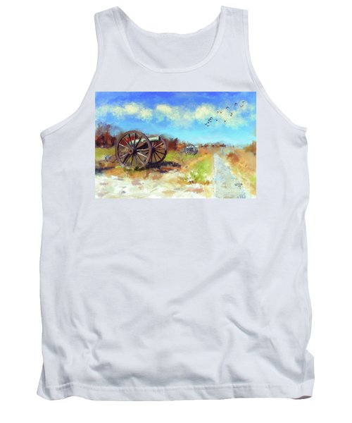 Tank Top featuring the digital art Antietam Under Blue Skies  by Lois Bryan