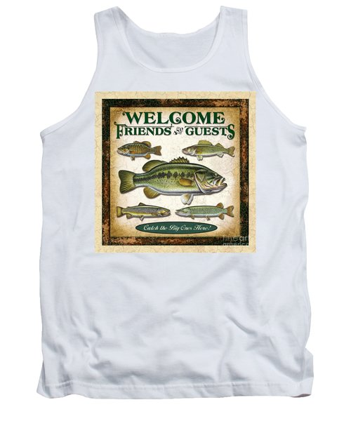 Antique Lure Fish Panel Three Tank Top by JQ Licensing Jon Q Wright