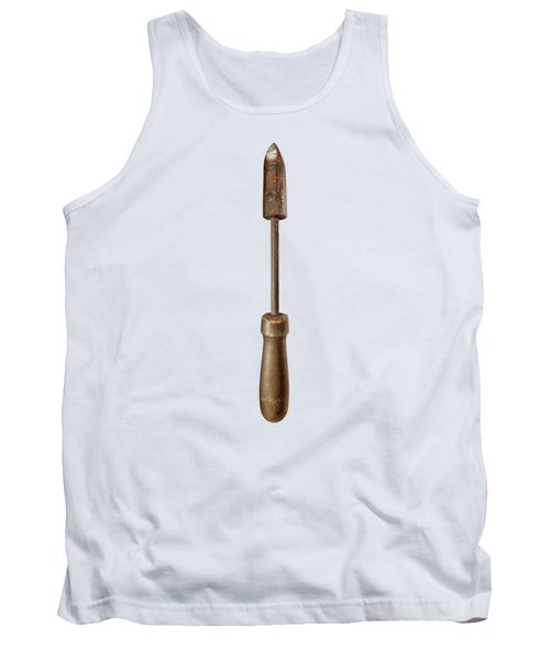 Antique Soldering Iron On Color Paper Tank Top