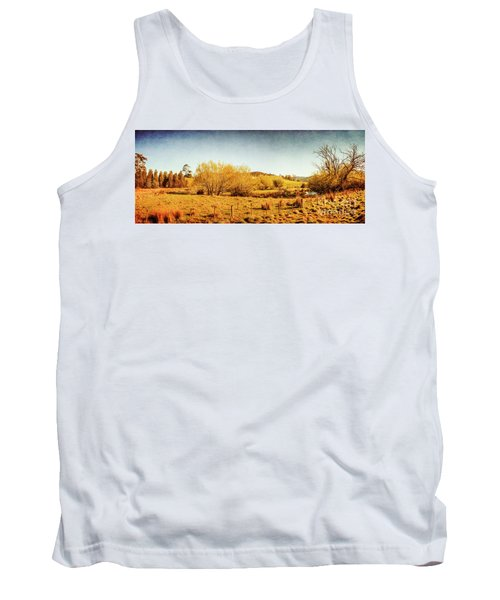 Antique Weathered Countryside Tank Top