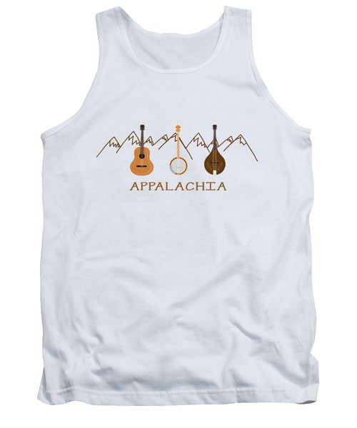 Tank Top featuring the digital art Appalachia Mountain Music by Heather Applegate