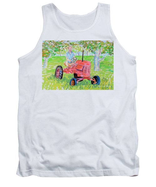 Apple Tree Farmer Sean Smith Tank Top by Rae  Smith