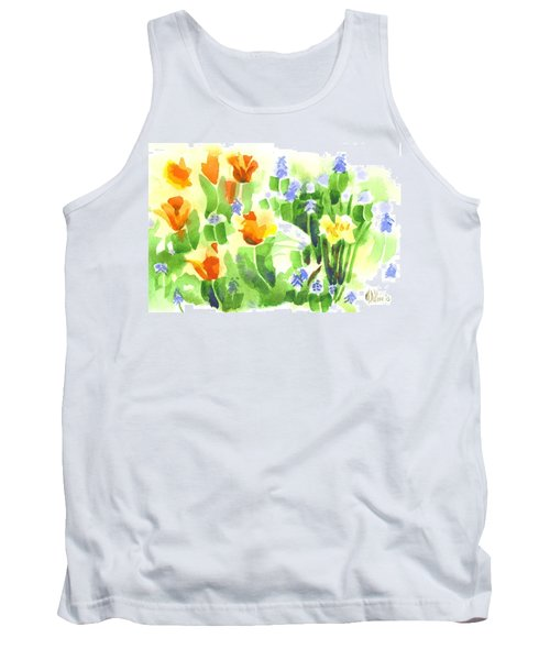 April Flowers 2 Tank Top by Kip DeVore