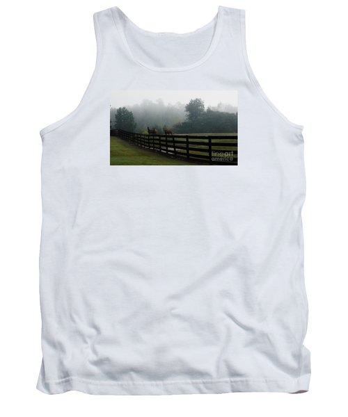 Tank Top featuring the painting Arabian Horse Landscape by Debra Crank