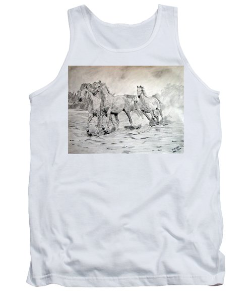 Arabian Horses Tank Top by Melita Safran