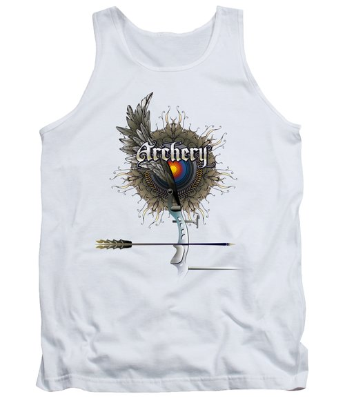 Archery Bow Wing Tank Top by Rob Corsetti