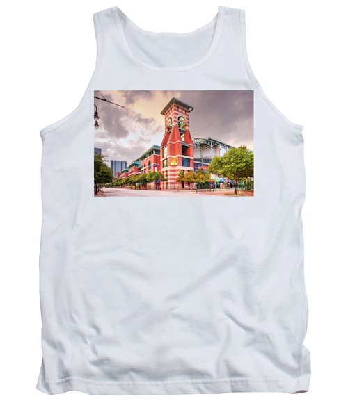 Architectural Photograph Of Minute Maid Park Home Of The Astros - Downtown Houston Texas Tank Top