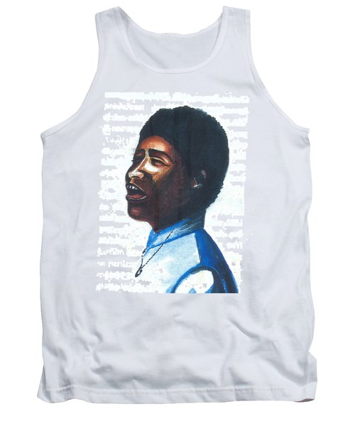 Tank Top featuring the painting Aretha Franklin by Emmanuel Baliyanga