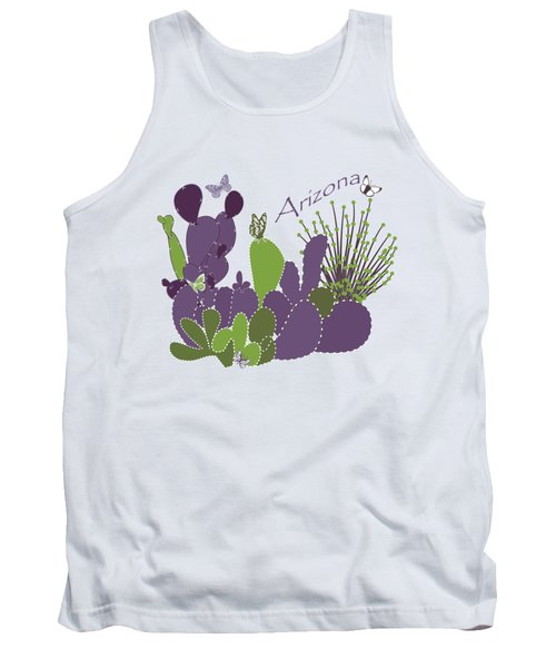 Arizona Cacti Tank Top by Methune Hively