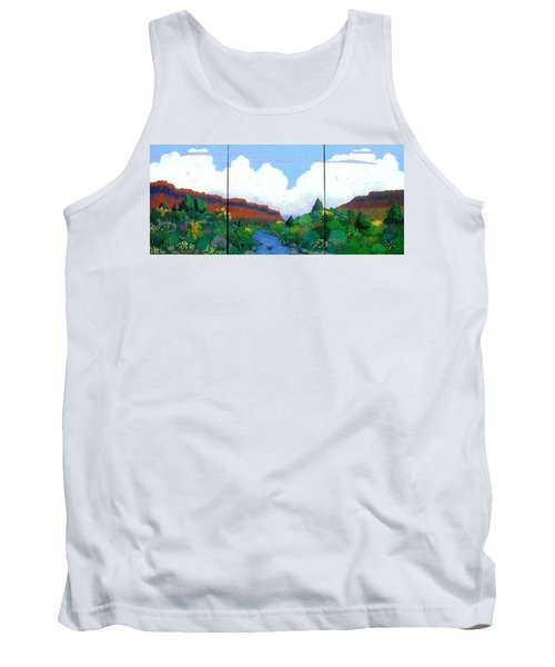 Tank Top featuring the painting Arizona Sky by Bernard Goodman