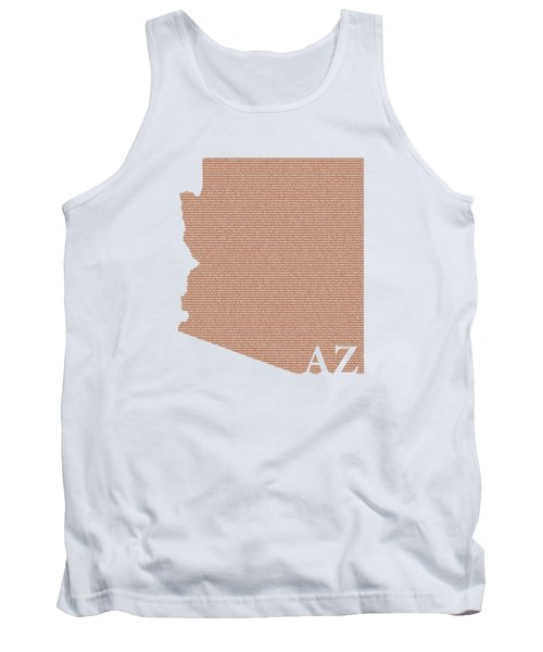 Arizona State Map With Text Of Constitution Tank Top by Design Turnpike