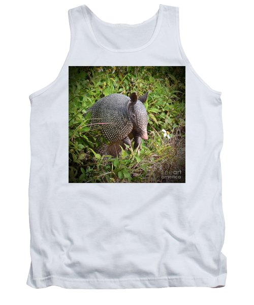 Armadillo And Flower Tank Top