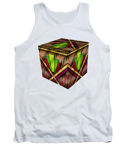 Art Deco 13 Cube Tank Top by Chuck Staley