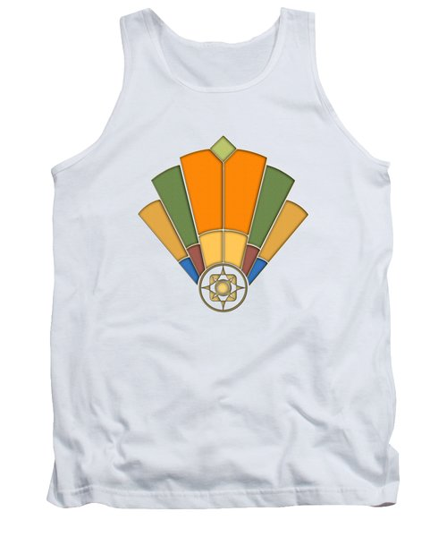 Art Deco Fan 8 Transparent Tank Top
