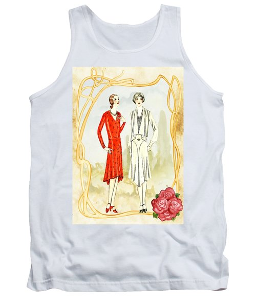 Art Deco Fashion Girls Tank Top