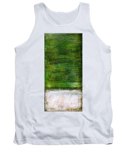 Art Print Green White Tank Top