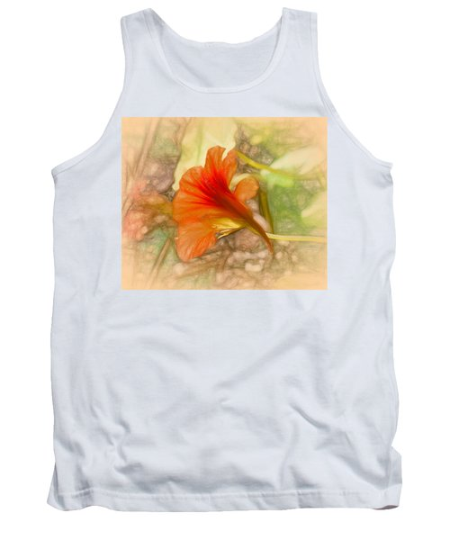 Artistic Red And Orange Tank Top