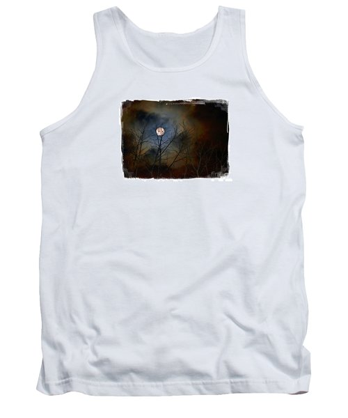 Tank Top featuring the photograph Artsy Moon by Lila Fisher-Wenzel