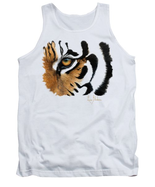 Tiger Eye Tank Top by Lucie Bilodeau