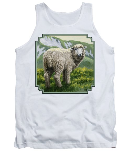 Highland Ewe Tank Top by Crista Forest