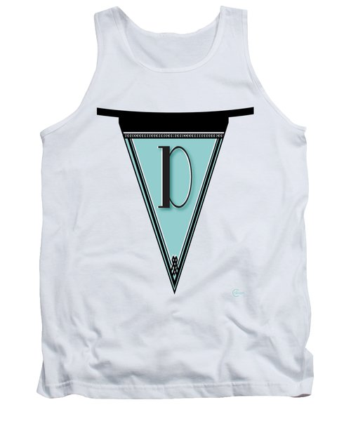Pennant Deco Blues Banner Initial Letter D Tank Top