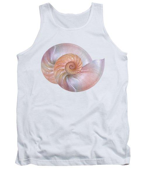 Pink Pearlescent Nautilus Shells Tank Top