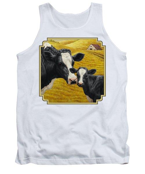 Holstein Cow And Calf Farm Tank Top