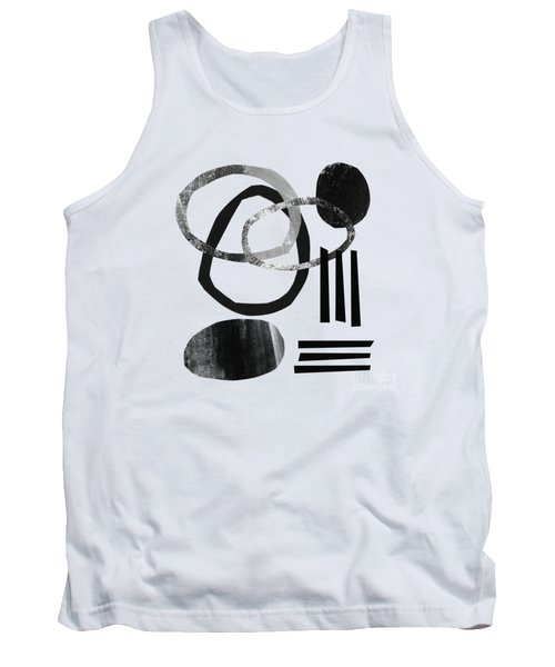 Black And White- Abstract Art Tank Top