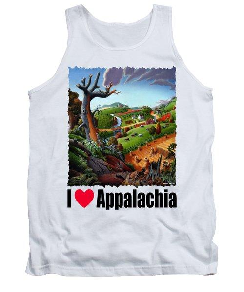 I Love Appalachia - Appalachian Wheat Field Harvest Rural Landscape Tank Top