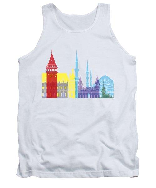 Istanbul Skyline Pop Tank Top