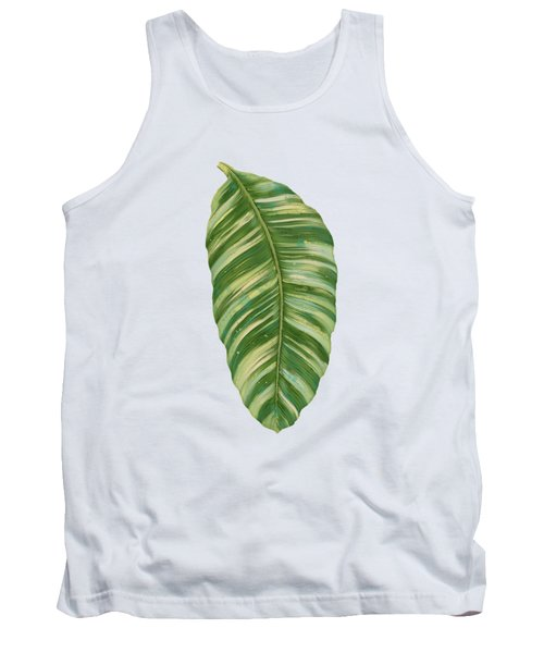 Rainforest Resort - Tropical Leaves Elephant's Ear Philodendron Banana Leaf Tank Top by Audrey Jeanne Roberts
