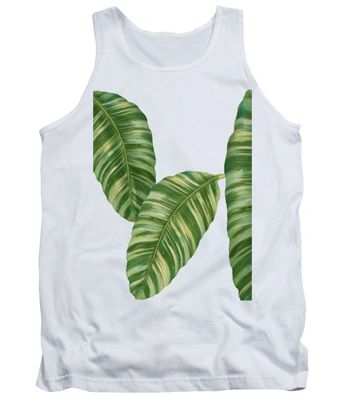 Rainforest Resort - Tropical Banana Leaf  Tank Top by Audrey Jeanne Roberts