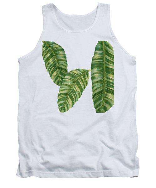 Rainforest Resort - Tropical Banana Leaf  Tank Top