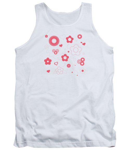 Playful Flower Background Tank Top