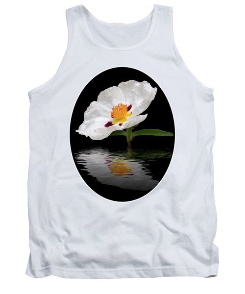 Tank Top featuring the photograph Cistus Reflections by Gill Billington