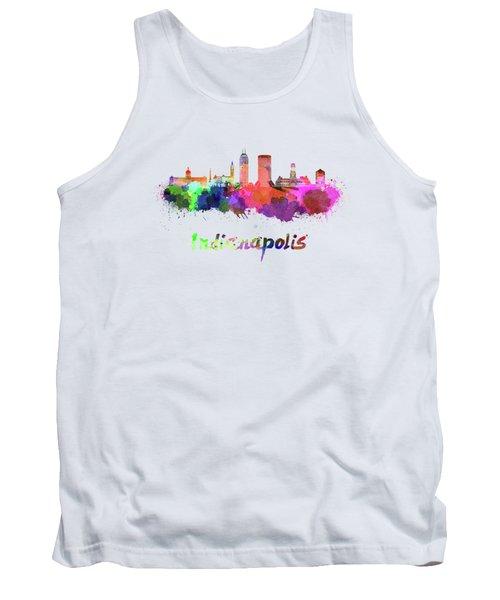 Indianapolis Skyline In Watercolor Tank Top