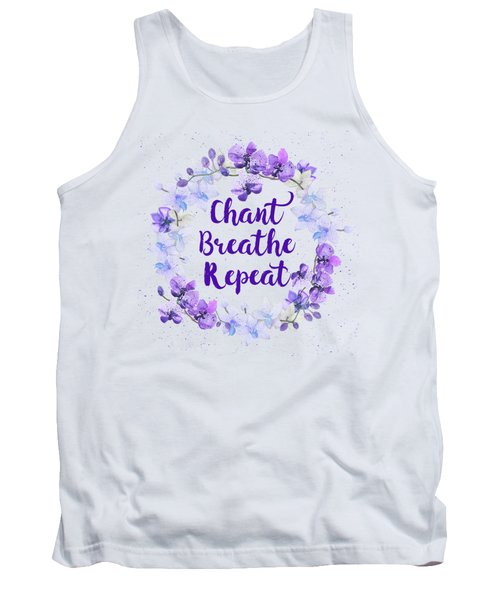 Tank Top featuring the painting Chant, Breathe, Repeat by Tammy Wetzel