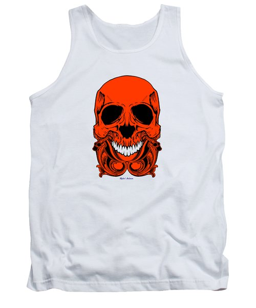 Red Skull  Tank Top by Rafael Salazar
