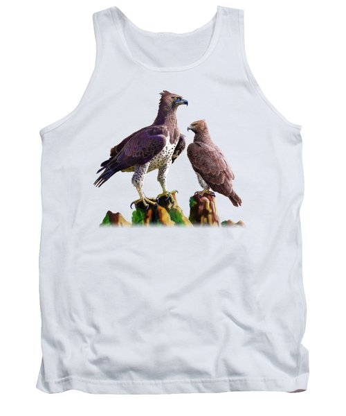 Martial Eagles Tank Top by Anthony Mwangi