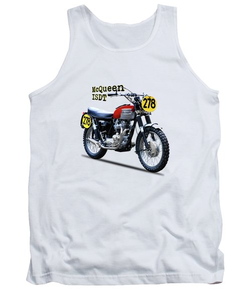 The Steve Mcqueen Isdt Motorcycle 1964 Tank Top