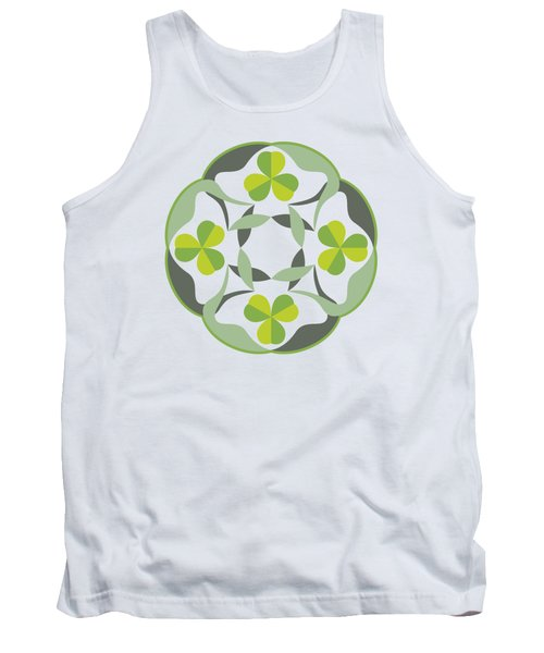 Celtic Inspired Shamrock Graphic Tank Top