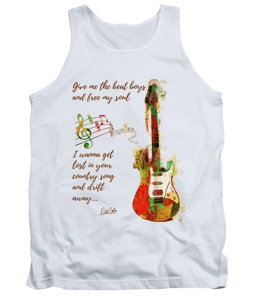 Tank Top featuring the digital art Drift Away Country by Nikki Marie Smith